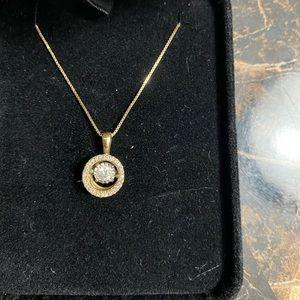 10 KT gold diamond necklace